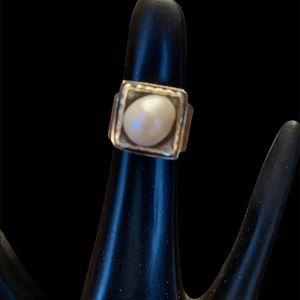 Silpada Sterling Silver and Cultured Pearl Ring